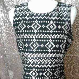 DKNYC Dresses - NWOT DKNYC Black and Silver Cocktail Dress SZ 8